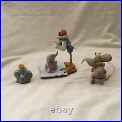 2 WDCC Dumbo BUNDLE OF JOY, Dumbo Ornament &1 Japan Dumbo Ceramic Figurines Set