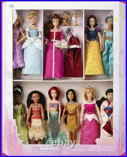 2020 Disney Store Classic Princess 11 Doll Collection Gift Set JASMINE BELLE