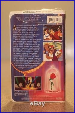 Beauty and the Beast (VHS, 1992) Walt Disney's Black Diamond Classic NEW SEALED
