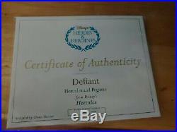 DISNEY WDCC HERCULES & PEGASUS DEFIANT 2004, Box, Sealed COA, #1232414 #182