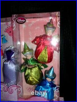 Disney Store Sleeping Beauty Classic Collection Dolls Aurora, Phillip Malef SET