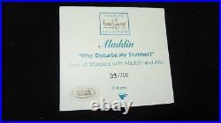 Disney WDCC 4004516 Cave of Wonders Who Disturbs My Slumber Missing Aladdin Base