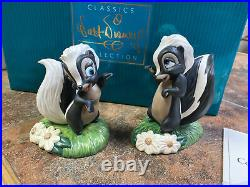 Disney WDCC Bambi 60th FLOWER and MISS SKUNK Walt Disney Classics Figurines