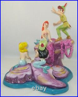 Disney WDCC Peter Pan & Mermaids SPINNING A SPELLBINDING STORY withCOA NO Box