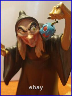 Disney WDCC Snow White Figurine EVIL TO THE CORE-WITCH & CALDRON withCOA NO Box