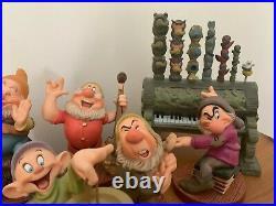 Disney WDCC Snow White Seven Dwarfs Full set 7 Dwarfs and Grumpy's Pipe Organ