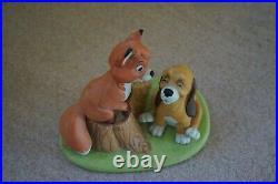 Disney the Fox and the Hound Copper Tod Figurine Disneyland Walt Disney World