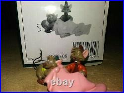 JAQ AND GUS WDCC ENCHANTED PLACES TINY TAILORS MINIATURE, MINT, NEW withCOA, BOX