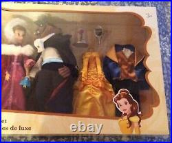 NEW Disney Beauty and the Beast Deluxe Doll Set Classic Gift Belle Beast Gaston