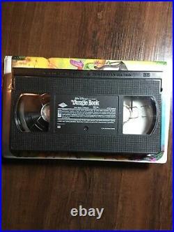 RARE Black Diamond Classic Walt Disney The Jungle Book VHS 1991