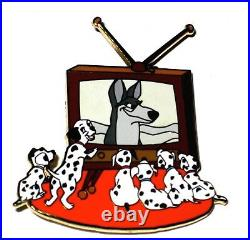 RARE LE Disney Auctions Pin from 2004 101 Dalmatians Watch Classic TV Puppy Dog