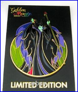 RARE Maleficent LE Jumbo Disney Pin Villain Classic Flames Staff Angry Acme NEW