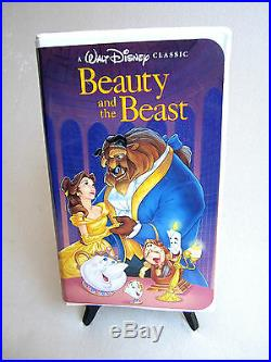 RARE Walt Disney's Beauty and The Beast VHS 1992 Black Diamond Classic EUC