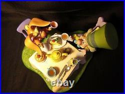 Rare Disney Alice in Wonderland MadHatter & March Hare A Very Merry Unbirthday