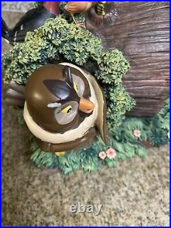 Rare Disney The Fox And The Hound Snow Globe With Classic VHS 2041