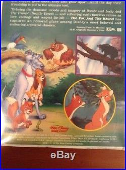 The Fox and the Hound VHS Tested / Black Diamond The Classic RARE Walt Disney