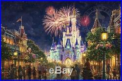 Thomas Kinkade Main Street USA Walt Disney World Classic (Burl Frame)