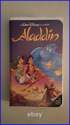 Used Rare WALT DISNEY'S CLASSIC ALADDIN BLACK DIAMOND VHS VCR TAPE