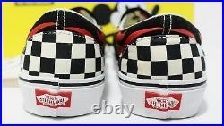 Vans X Disney Classic Slip On Mickey & Minnie Checker Men's Size 8.5 (Womens 10)