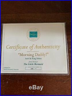 WDCC ARIEL & KING TRITON With Box & COA'MORNING DADDY