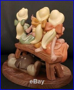 WDCC Beauty And The Beast Tavern Girls & Le Fou Sitting Pretty Disney Figurine