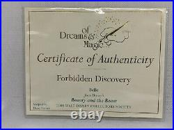 WDCC Beauty and the Beast Belle Forbidden Discovery Walt Disney + Box and COA