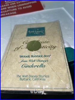 WDCC Cinderella Fairy Godmother Bibbidi Bobbidi Boo Box COA 41108 Disney