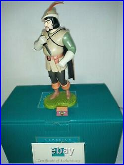 WDCC DISNEY HUNTSMAN & HEART BOX Deadly Intent from Snow White and the Seve