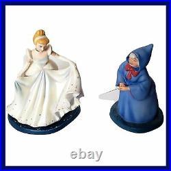 WDCC Disney Classic Cinderella Fairy Godmother Magical Transformation Box COA