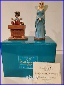 WDCC Disney Classics Pinocchio & Blue Fairy The Gift of Life is Thine in Box