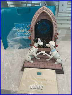 WDCC Disney Dalmatians Pongo Perdita Chapel Box COA