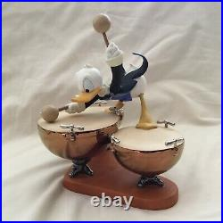 WDCC Disney Donald Ducks Symphony Hour DRUM BEAT Figurine Figure Statue-MIB