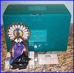 WDCC Disney Enthroned Evil Queen Figurine withBox & COA 1205544 Snow White, MINT
