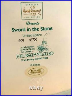 WDCC Disney Fantasyland The Sword in the Stone -Excellent Condition