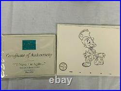 WDCC Disney PINOCCHIO & JIMINY Cricket I'll Never Lie Again with pins and COA