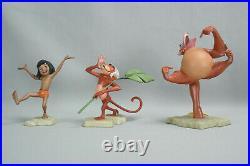 WDCC Disney Set The Jungle Book Man Cub Mowgli Shere Khan King of the Swingers