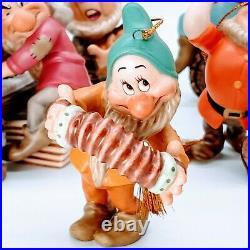 WDCC Disney Snow White and the Seven Dwarfs Ornament Set. MIB