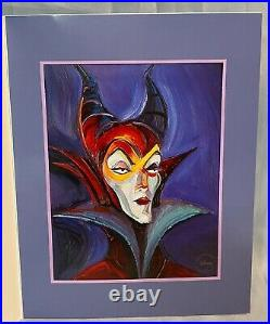 WDCC Disney Villains Maleficent Mistress Of All Evil Lithograph Sleeping Beauty