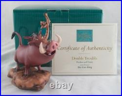 WDCC Double Trouble Pumbaa and Timon from Disney's The Lion King in Box COA