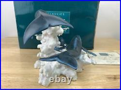 WDCC Fantasia Soaring In The Clouds Mom Dad & Baby Whale w Box