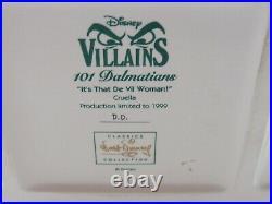 WDCC It's That De Vil Woman Cruella from 101 Dalmatians Box COA Dealer Display