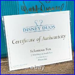 WDCC J. Worthington Foul Fellow Felonious Fox Pinocchio Limited To Prod. 2003