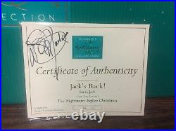 WDCC JACK'S BACK! SANTA JACK NIGHTMARE BEFORE CHRISTMAS LE664/1000sign by Dave P