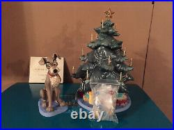 WDCC Lady and The Tramp Tramp & Tree At Home for Christmas + Box & COA