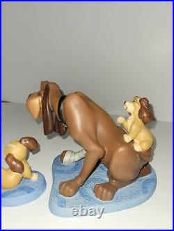 WDCC Lady and the Tramp Old Dog New Tricks Playful Pup Sculpture With COA & Box
