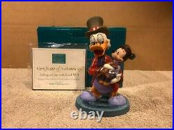 WDCC Mickey's Christmas Carol Scrooge & Tiny Tim Tidings of Joy and Goodwill