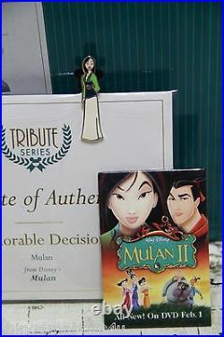 WDCC Mulan Honorable Decision Disney Mulan NIB COA with bonus pins & Free Ship