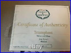 WDCC Mulan & Khan Triumphant 1925 of 2000