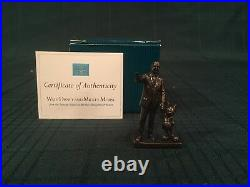 WDCC Partners Mini Bronze Statue Walt Disney and Mickey Mouse New