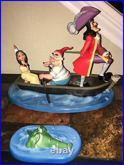 WDCC Peter Pan Irresistible Lure CPT Hook Mr Smee Tiger Lily LE 1,500 Classics